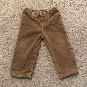 Boys Polo brown corduroy pants 18M. Worn once!